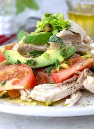 Chicken Avocado Tomato Salad