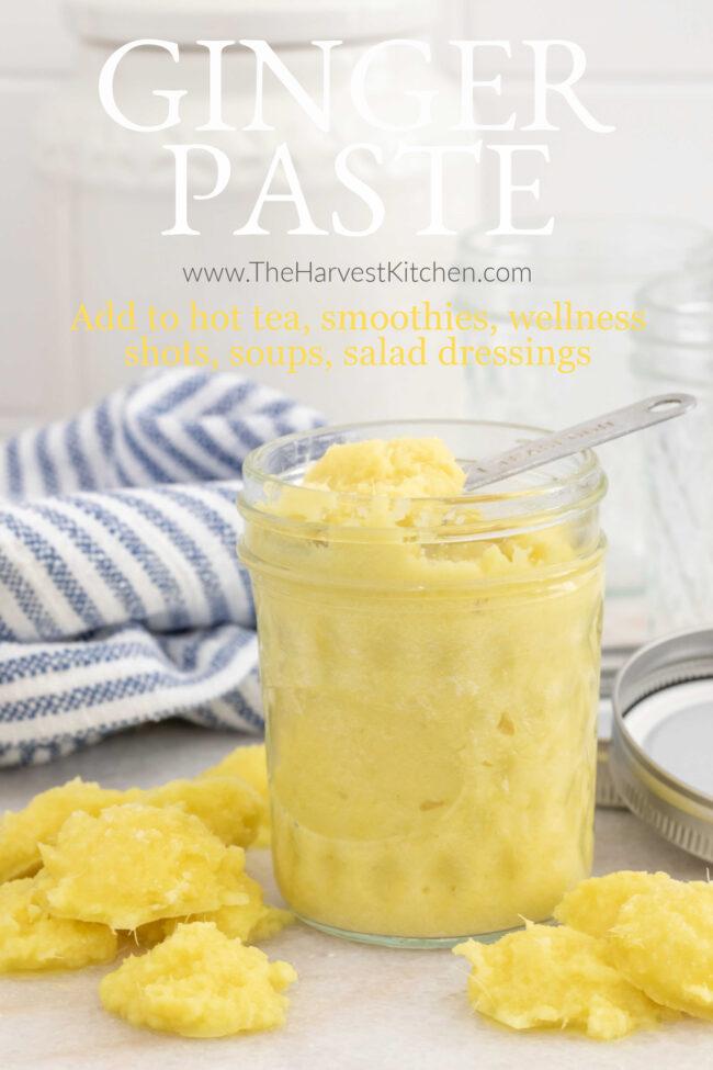 jar of fresh ginger paste