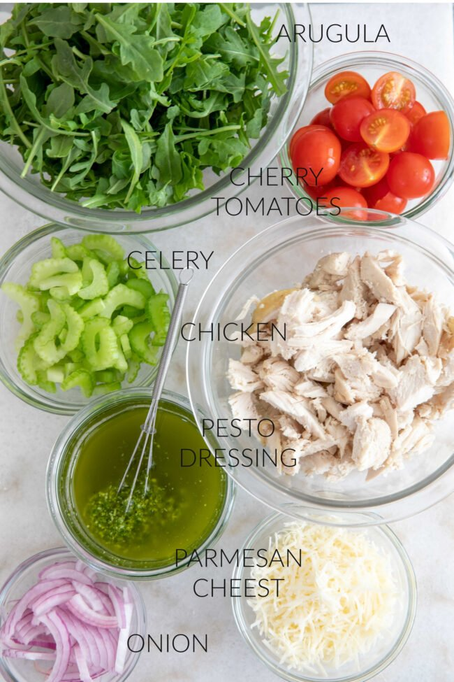 bowls of vegetables and chicken for salad ideas for dinner