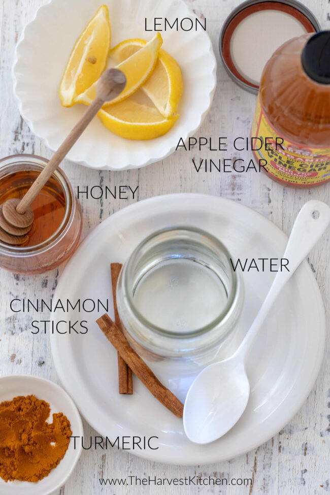 apple cider vinegar drink made with Bragg ACV