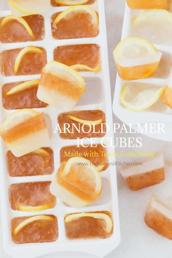 lemonade ice cubes for natural water flavoring