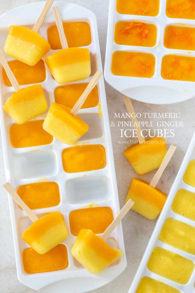 fruit ice cubes for healthy water flavoring